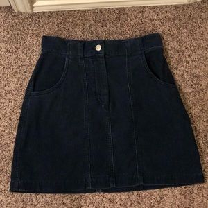 The Limited Skirts - The Limited Navy Blue Corduroy Skirt